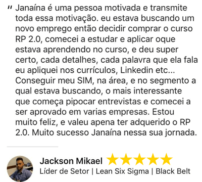 Depoimento RP20 Jackson Mikael